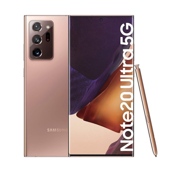 Samsung galaxy note 20 ultra bronce móvil dual sim 5g 6.9'' super amoled 120hz 2k octacore 256gb 12gb ram tricam 108mp selfies 10mp